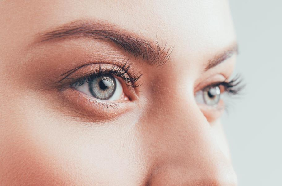 A woman wearing contact lenses you can't see