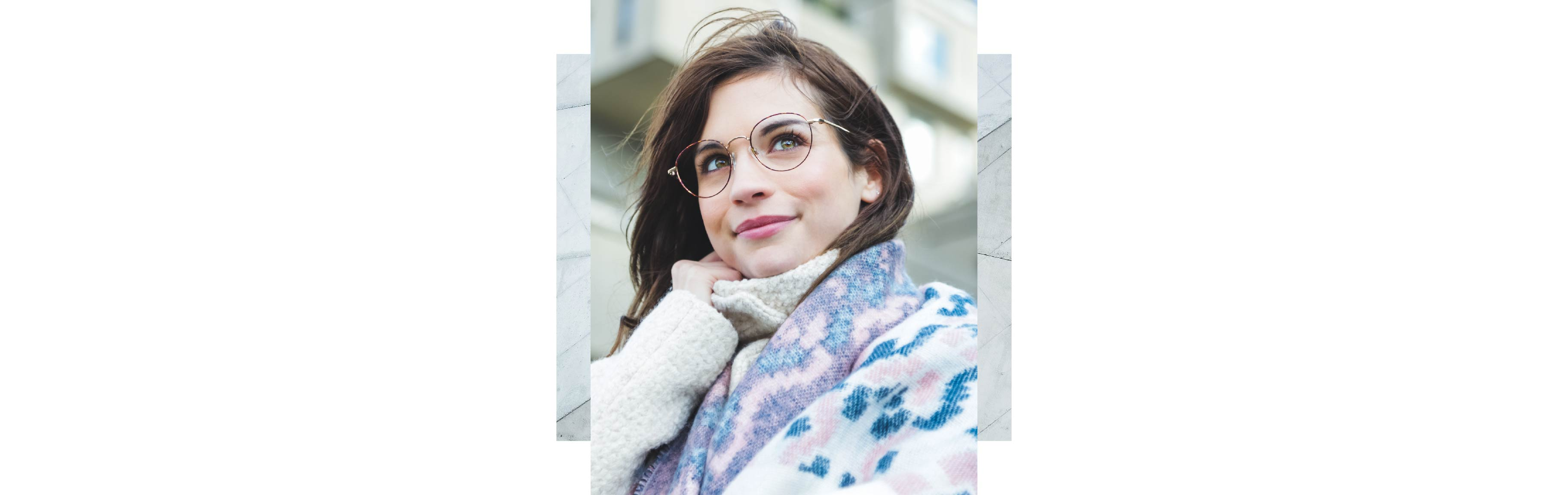 A young woman wearing Charmant_CH11466U frames