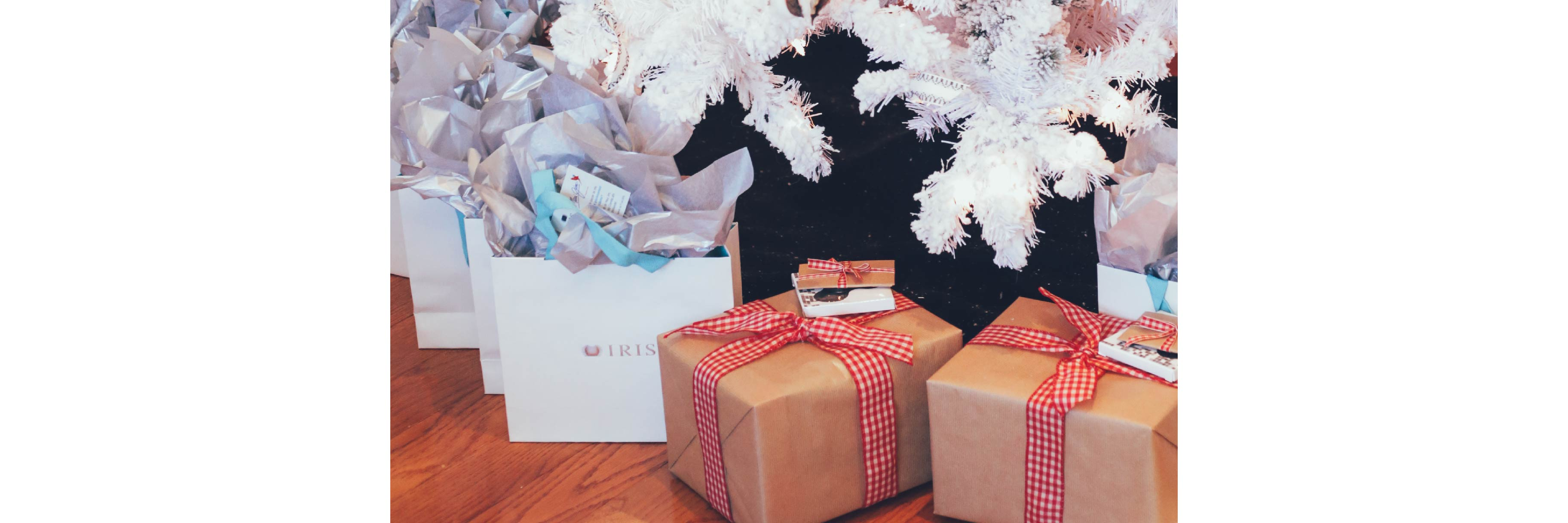 Gifts under the tree at the IRIS Ambassadors Brunch 2018