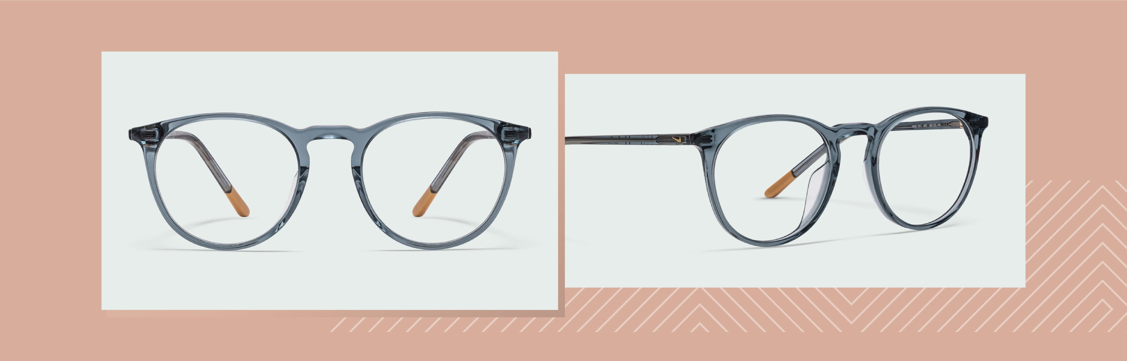 Model of transparent glasses that will lighten your face