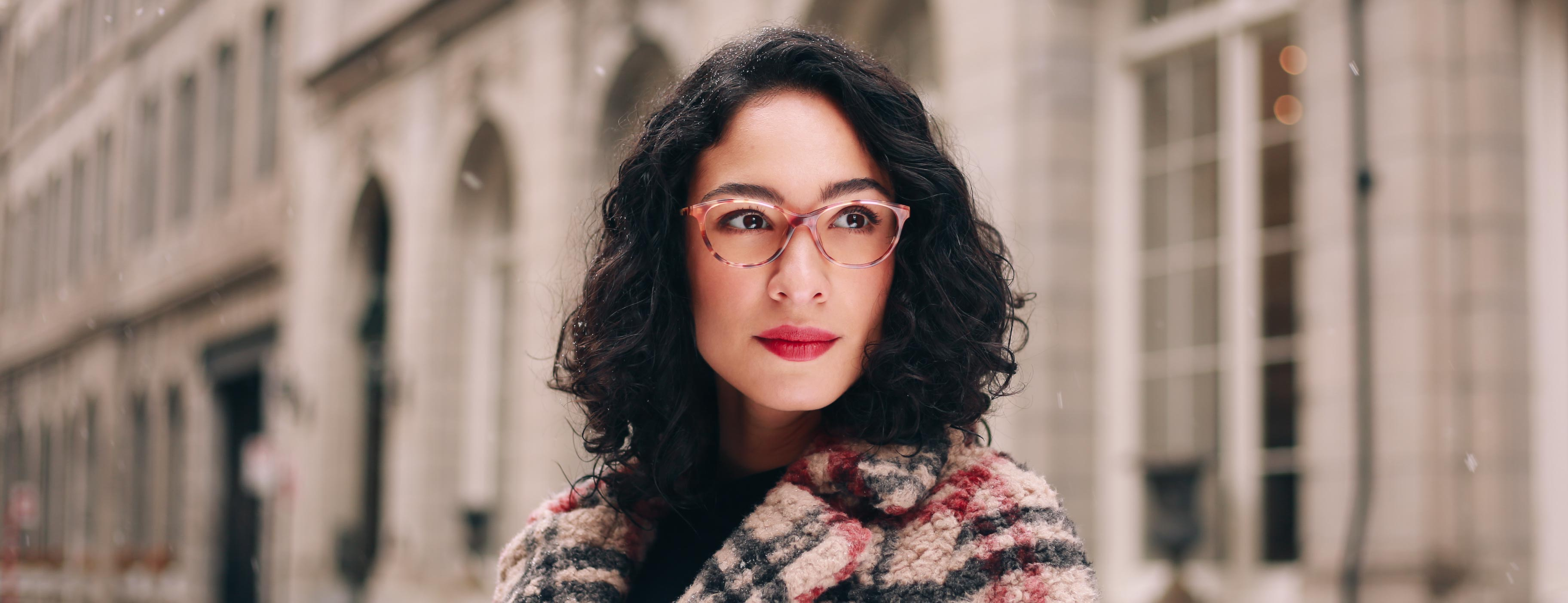 Woman wearing prodesign 3611 glasses